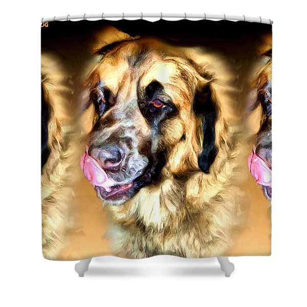 Dog Shower Curtain by Daniel Janda
