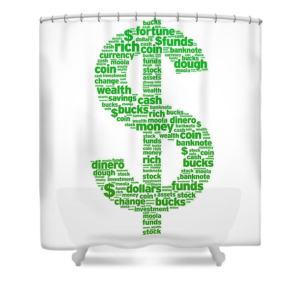 Dollar Sign Shower Curtain by Aged Pixel