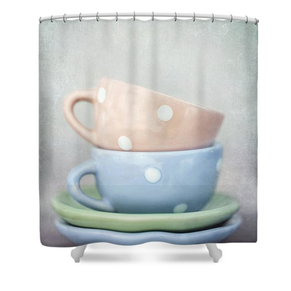 dolls china Shower Curtain by Priska Wettstein