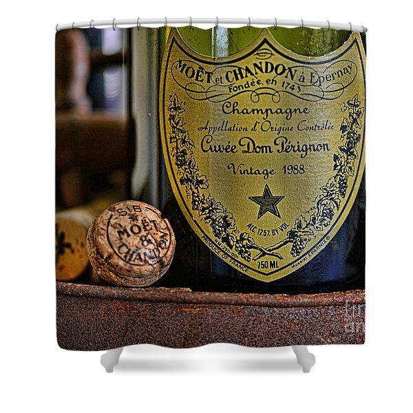 Dom Perignon  Shower Curtain by Paul Ward