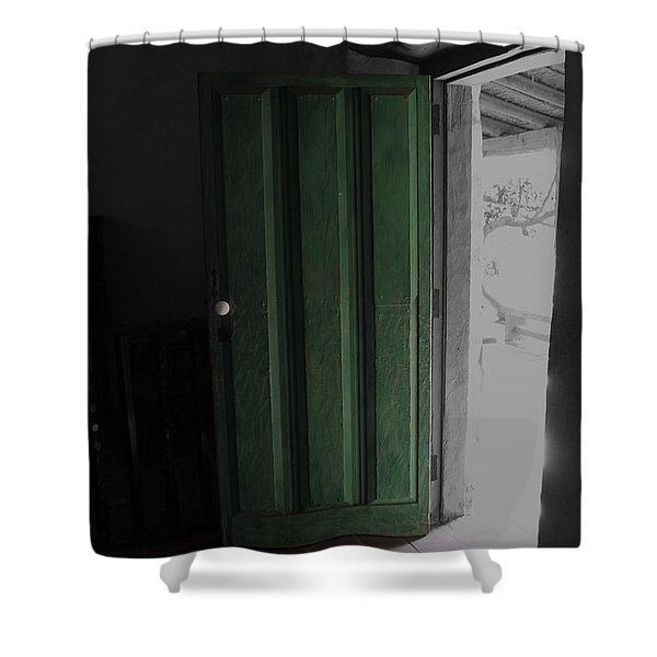 Doors Open Shower Curtain by Cheryl Young