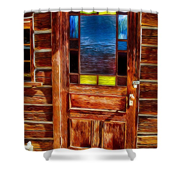Doorway To The Past Shower Curtain by Omaste Witkowski