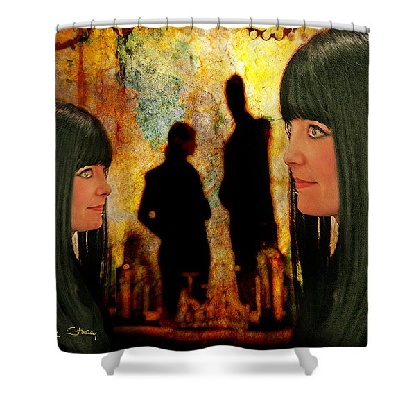 Doppelganger Shower Curtain by Chuck Staley