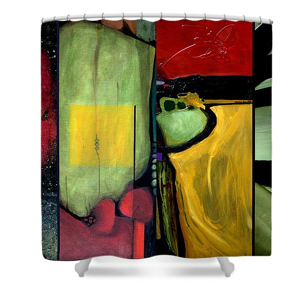 Double Diptychin' Shower Curtain by Marlene Burns