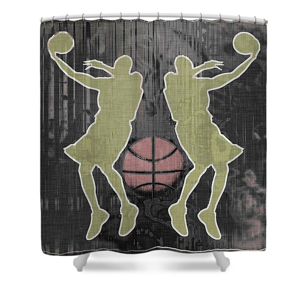 Double Hook Shower Curtain by David G Paul