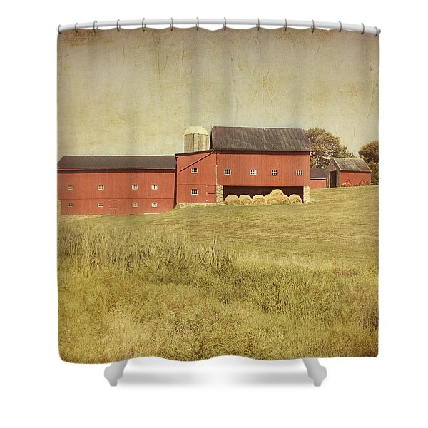 Down on the Farm Shower Curtain by Kim Hojnacki