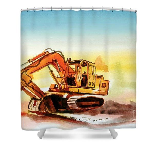 Dozer October Shower Curtain by Kip DeVore