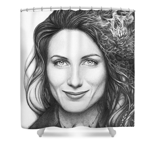 Dr. Lisa Cuddy - House Md Shower Curtain by Olga Shvartsur