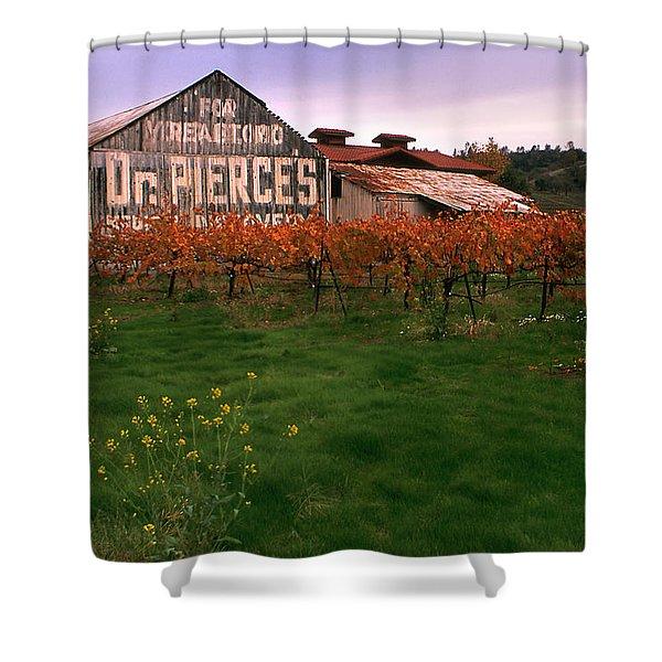 Dr Pierce's Barn Billboard Shower Curtain by Jerry McElroy