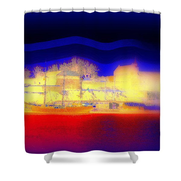 Dream Of A Castle Shower Curtain by Hilde Widerberg