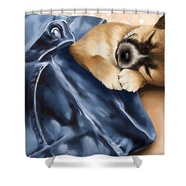 Dreaming Shower Curtain by Veronica Minozzi