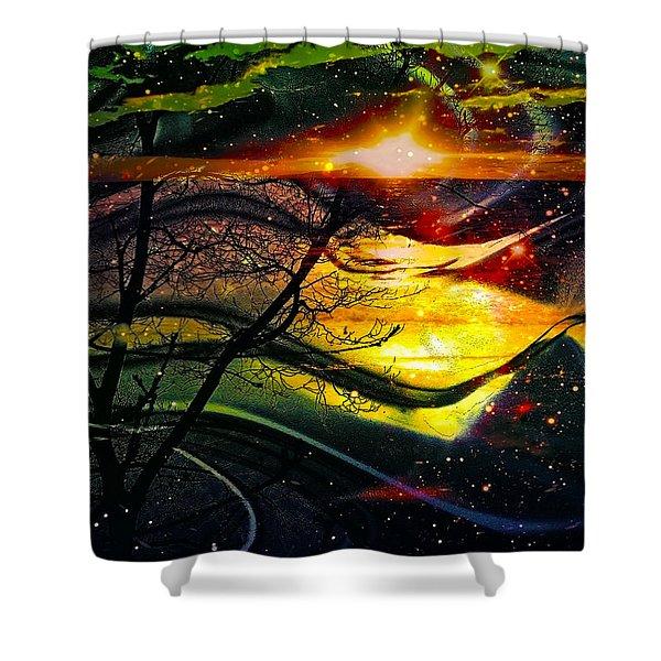 Dreamtime Shower Curtain by Linda Sannuti