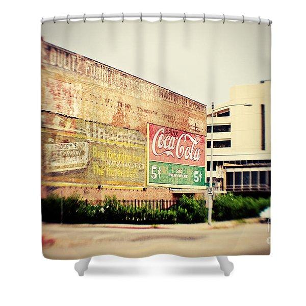 Drink Coca Cola Shower Curtain by Scott Pellegrin