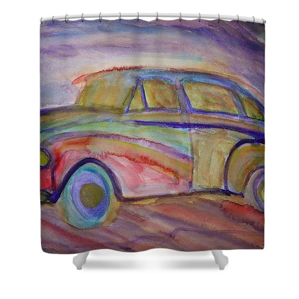 drive me home again Shower Curtain by Hilde Widerberg