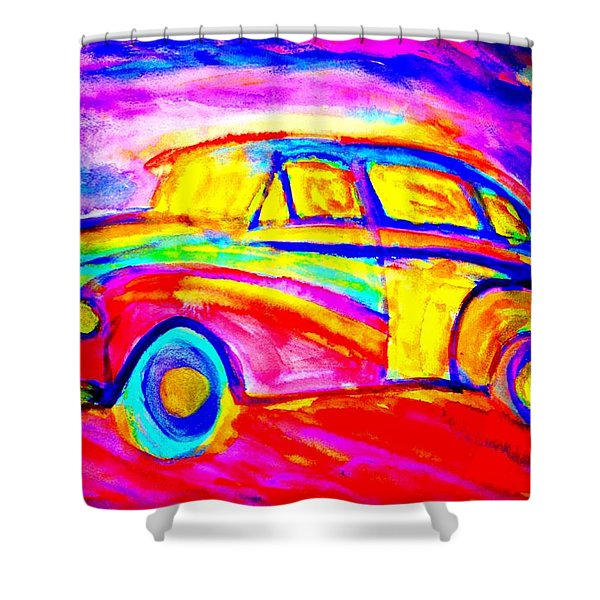 Driving Home Shower Curtain by Hilde Widerberg
