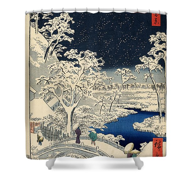 Drum Bridge at Meguro and Sunset Hill Shower Curtain by Nomad Art And  Design