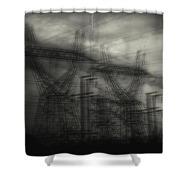 Duality Shower Curtain by Taylan Soyturk