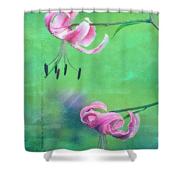 Duet - 9t01b Shower Curtain by Variance Collections
