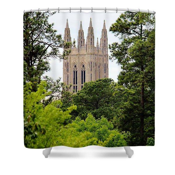 Duke Chapel Shower Curtain by Cynthia Guinn