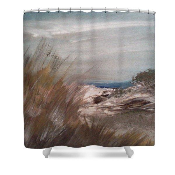 Dune Overlook Shower Curtain by Joseph Gallant