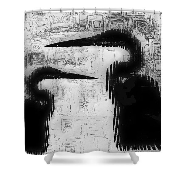 Duo Shower Curtain by Jack Zulli