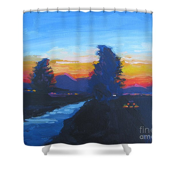 Dusk Moment Shower Curtain by Vanessa Hadady BFA MA