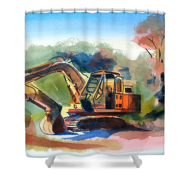 Duty Dozer Shower Curtain by Kip DeVore