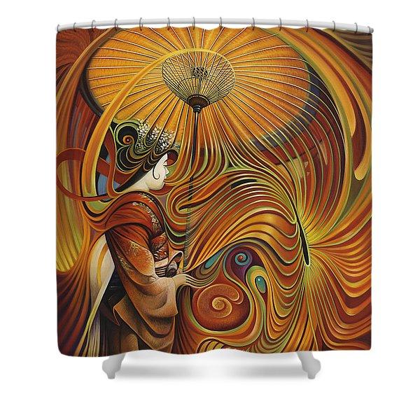 Dynamic Oriental Shower Curtain by Ricardo Chavez-Mendez