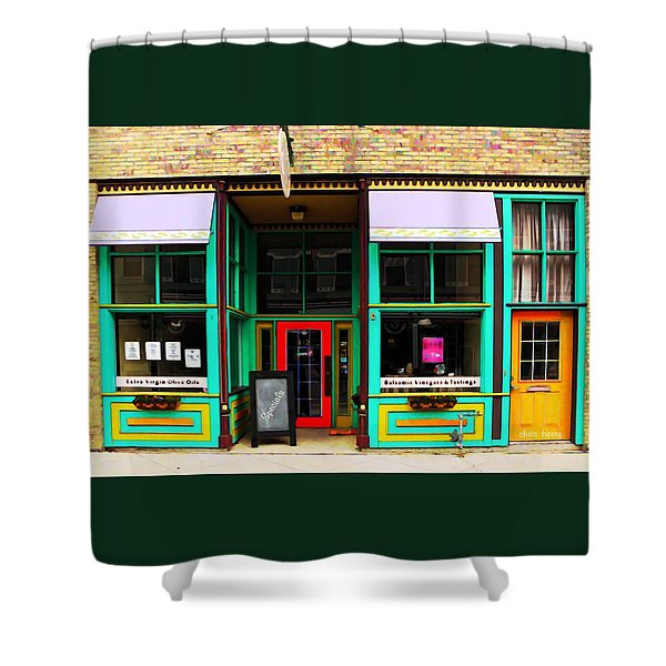 E V O O Store Shower Curtain by Chris Berry