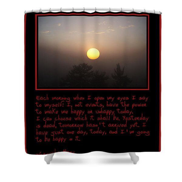 Each Morning Shower Curtain by Bill Cannon