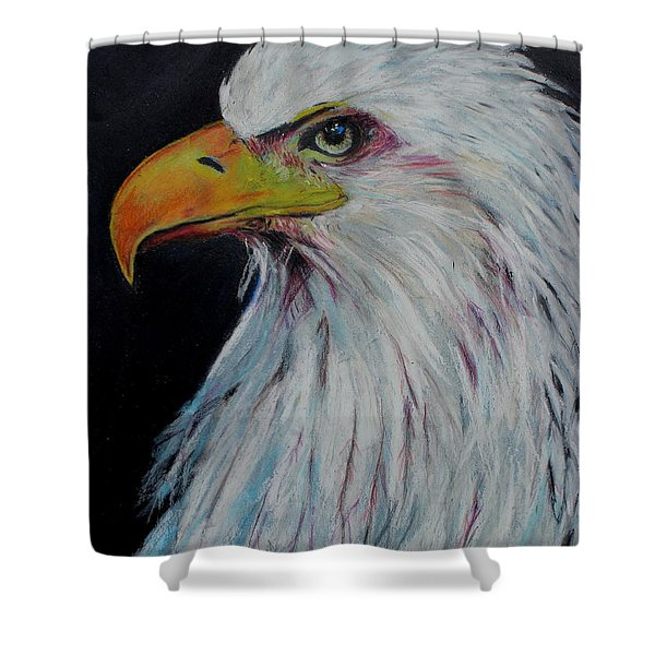 Eagle Eye Shower Curtain by Jeanne Fischer