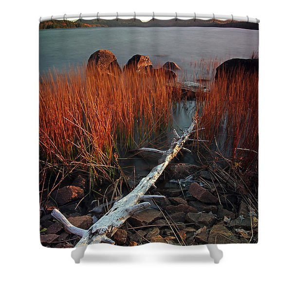 Eagle Lake at Autumn Shower Curtain by Juergen Roth