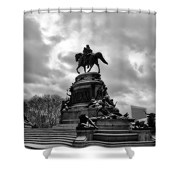 Eakins Oval in Winter Shower Curtain by Bill Cannon