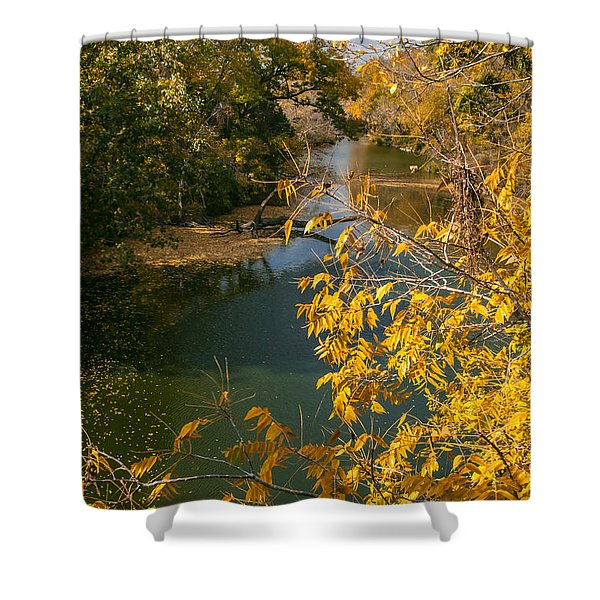 Early Fall On the Navasota Shower Curtain by Robert Frederick