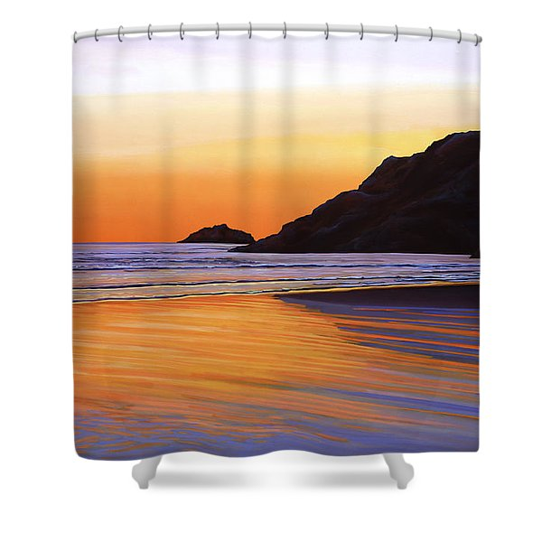 Earth Sunrise Sea Shower Curtain by Paul  Meijering