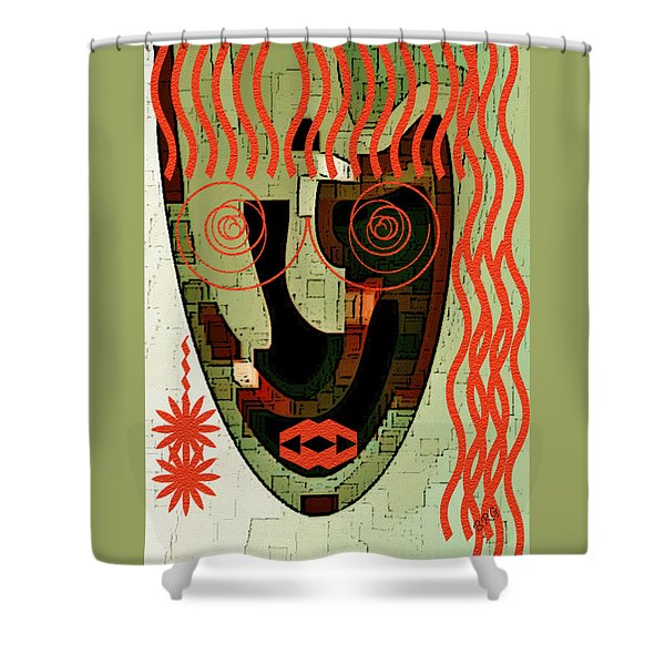 Earthy Woman Shower Curtain by Ben and Raisa Gertsberg