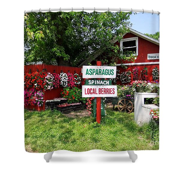 east end farmstand Shower Curtain by Ed Weidman