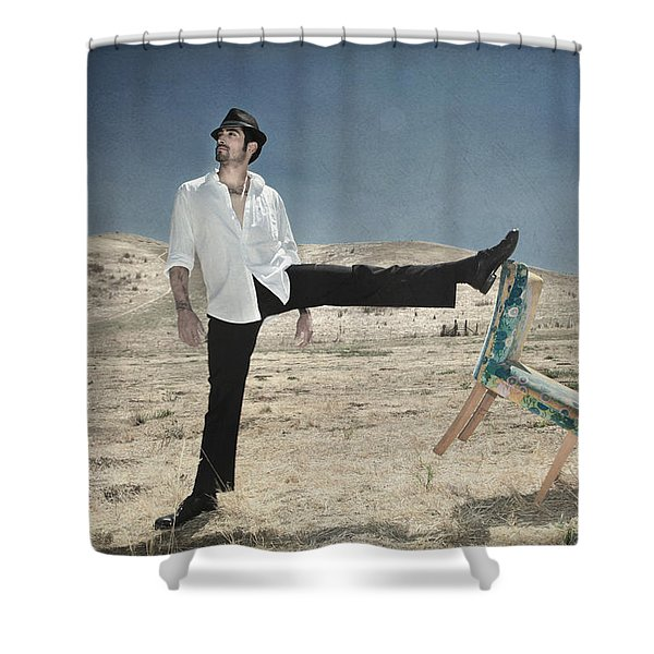 Easy Breezy Cool Shower Curtain by Laurie Search