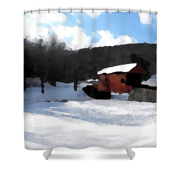Ebenezer Bridge in Winter Shower Curtain by Spencer McKain