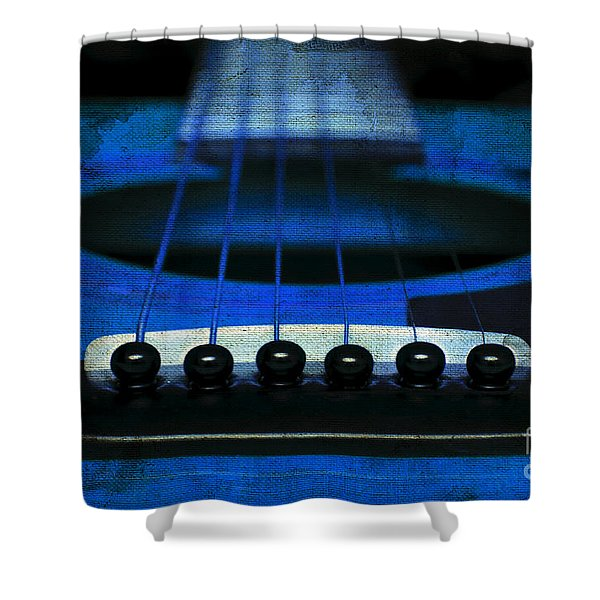 Edgy Abstract Eclectic Guitar 18 Shower Curtain by Andee Design