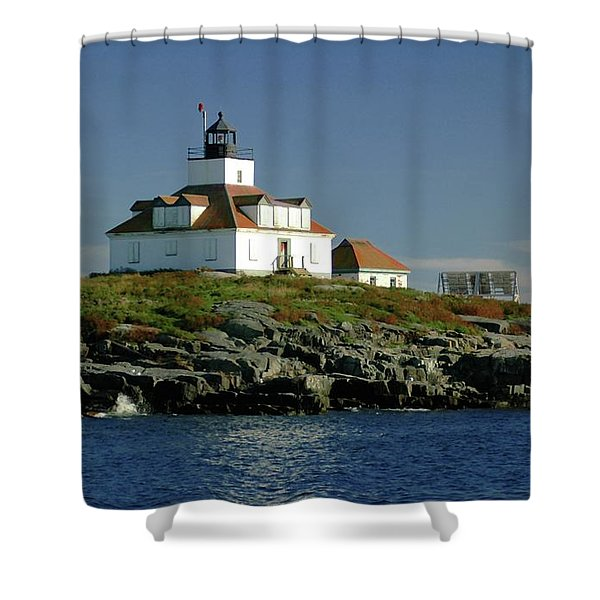 Egg Rock Lighthouse Shower Curtain by Kathleen Struckle