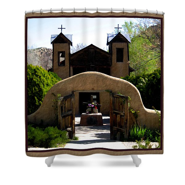 El Santuario de Chimayo Shower Curtain by Kurt Van Wagner
