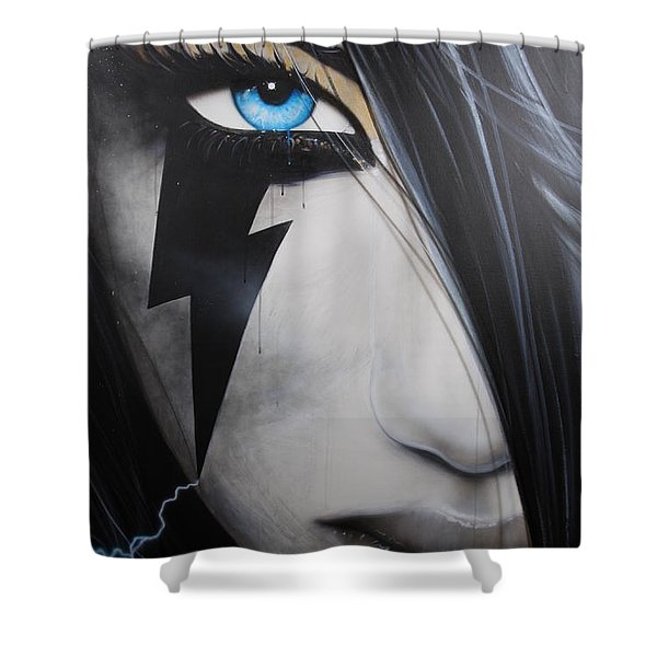 'Electric Sin' Shower Curtain by Christian Chapman Art