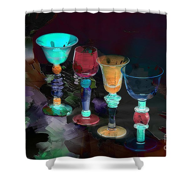 Electric Slide Shower Curtain by A New Focus Photography