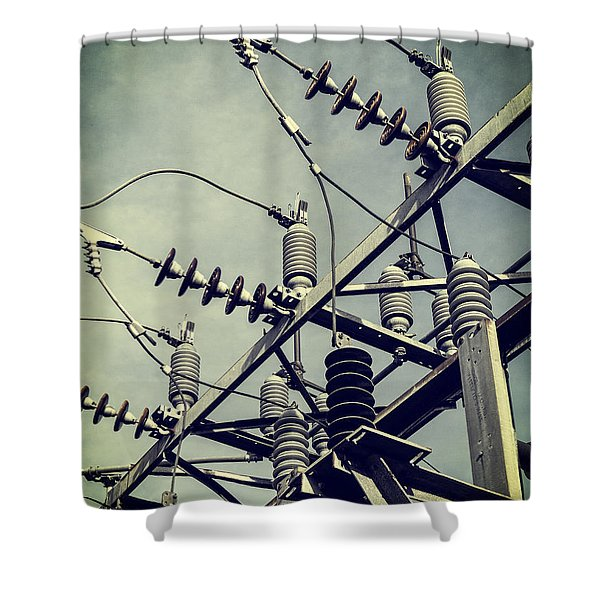 Electricity Shower Curtain by Edward Fielding