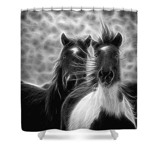 Electrified And Wild D8873 Shower Curtain by Wes and Dotty Weber