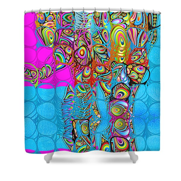 Elefantos - av03-ps01 Shower Curtain by Variance Collections
