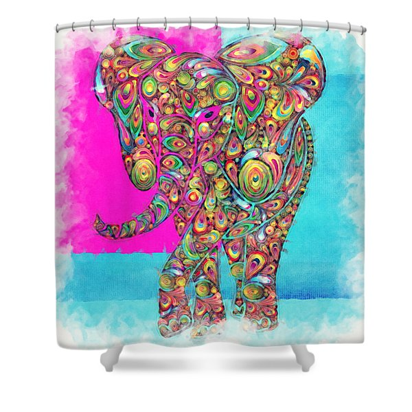 Elefantos - ptw01a Shower Curtain by Variance Collections