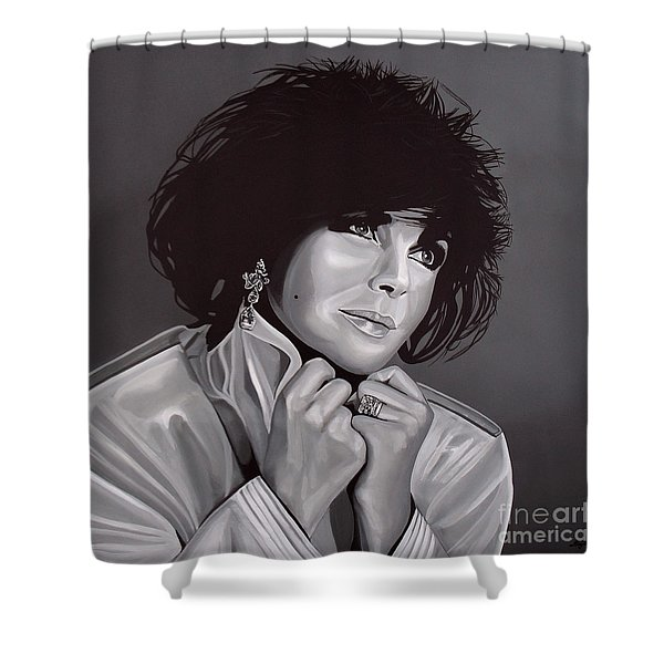 Elizabeth Taylor Shower Curtain by Paul Meijering