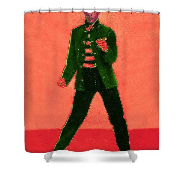 Elvis Is In The House 20130215m40 Shower Curtain by Wingsdomain Art and Photography